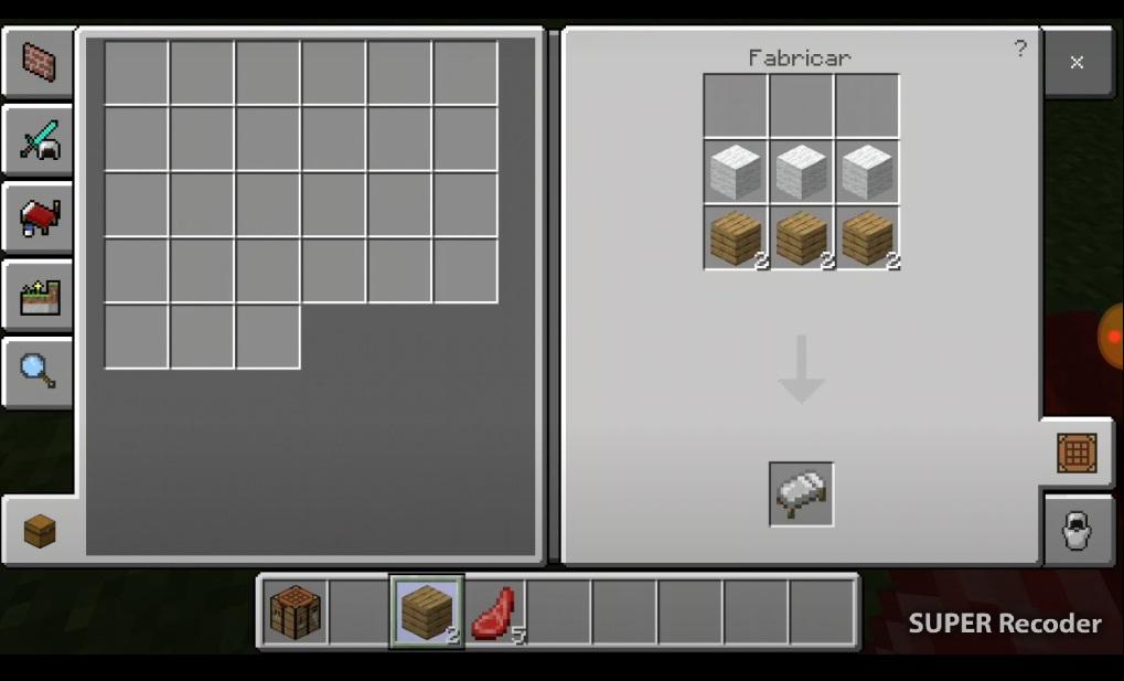 Como hacer una cama en Minecraft