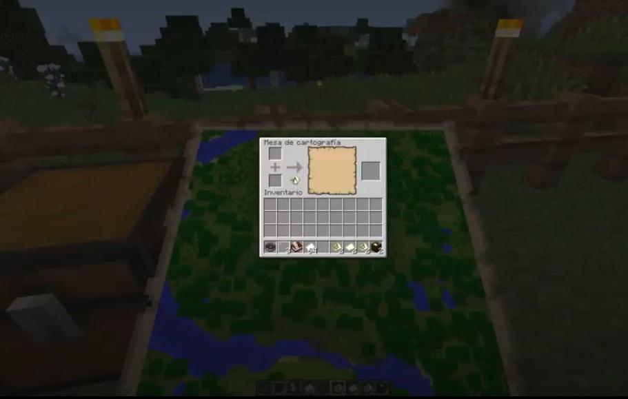 bloquear mapa en minecraft