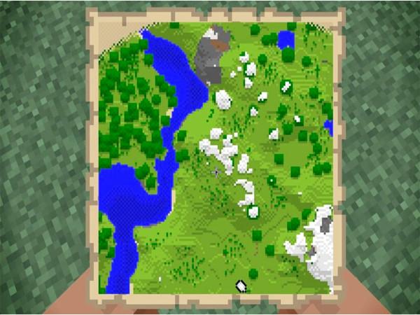 ubicacion en mapa de minecraft